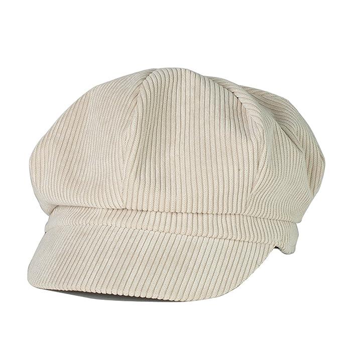 Belsen Unisex Cotton Corduroy Newsboy Cap Gatsby Ivy Hat (Beige) at ... 3ff5099ae796