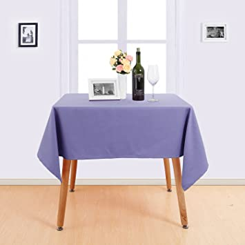 Deconovo Nappe Rectangulaire Violet 137x274cm Decoration Table Basse ...