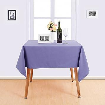 Deconovo Nappe Rectangulaire Violet 132x229cm Decoration Table Basse ...