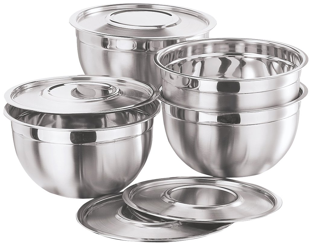 Vinod Cookware Bowl with Stainless Steel Cover, 8 Pieces