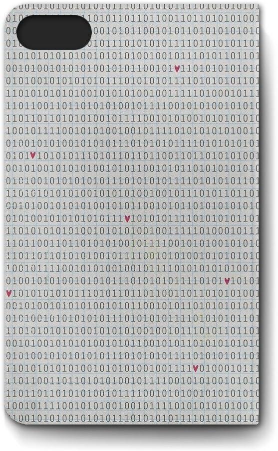 Código binario Amor Piel Funda para iPhone 4 5 5S 5C 6, Samsung Galaxy S2 S3 S4 S5 Note 1 2 3 - Apple iPhone 6 piel: Amazon.es: Electrónica