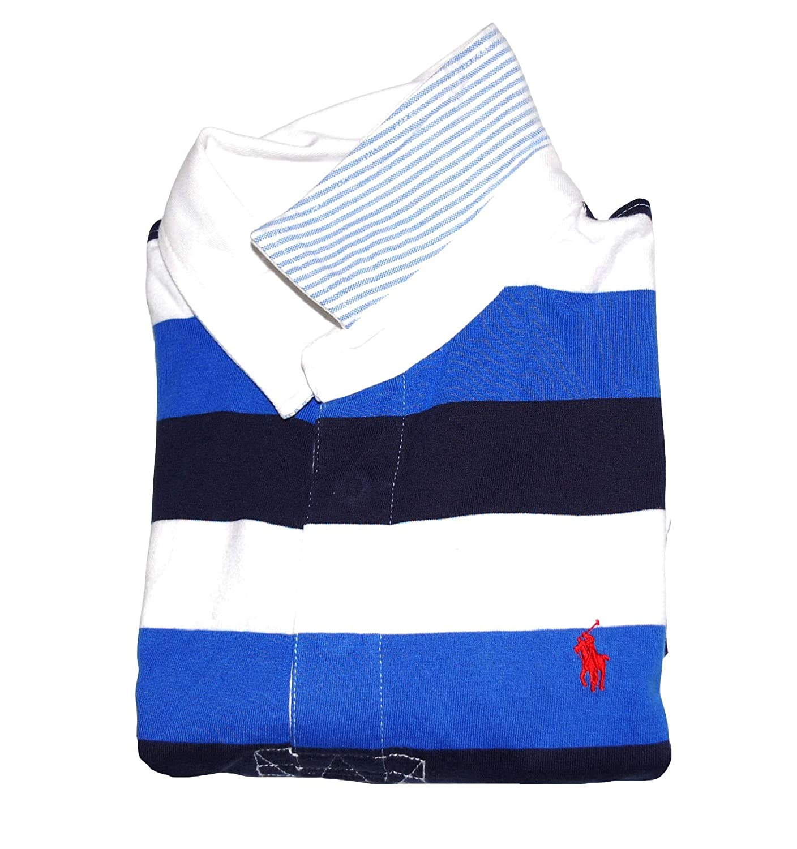 Ralph Lauren Polo Boys Short Sleeve Striped Rugby Shirt