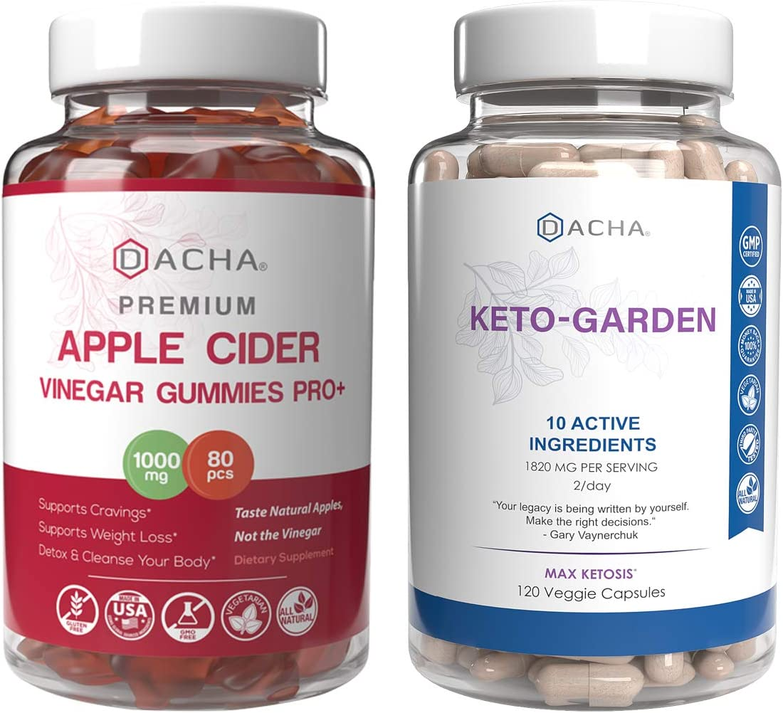 Advanced Keto Diet & Fasting Bundle - Apple Cider Vinegar and Ketogarden, 10x Natural Dietary Herbs with Immune Booster Factor, Max Potency Weightloss Support, Organic ACV with Mother Gummy, Slim Fast