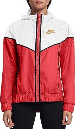 4d08dcd54 Nike Women's Woven Windrunner Windbreaker, Orange/White/Wheat (Glow  Orange/White