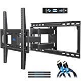 """Mounting Dream TV Mount Full Motion TV Wall Mounts for 26-55 inch, Some up to 65 inch LED, LCD Flat Screen TV, Wall Mount Bracket up to VESA 400 x 400mm 99 lbs. Fits 16"""", 18"""", 24"""" Wood Studs MD2380-24"""
