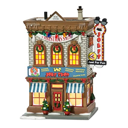 department 56 a christmas story village lit miniature building joke shop - Miniature Christmas Village
