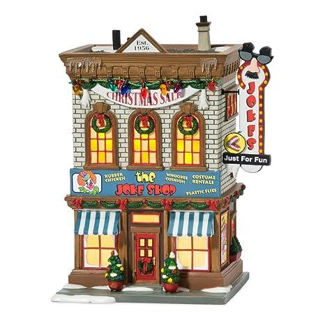 Christmas Houses Village.Department 56 A Christmas Story Village Lit Miniature Building Joke Shop
