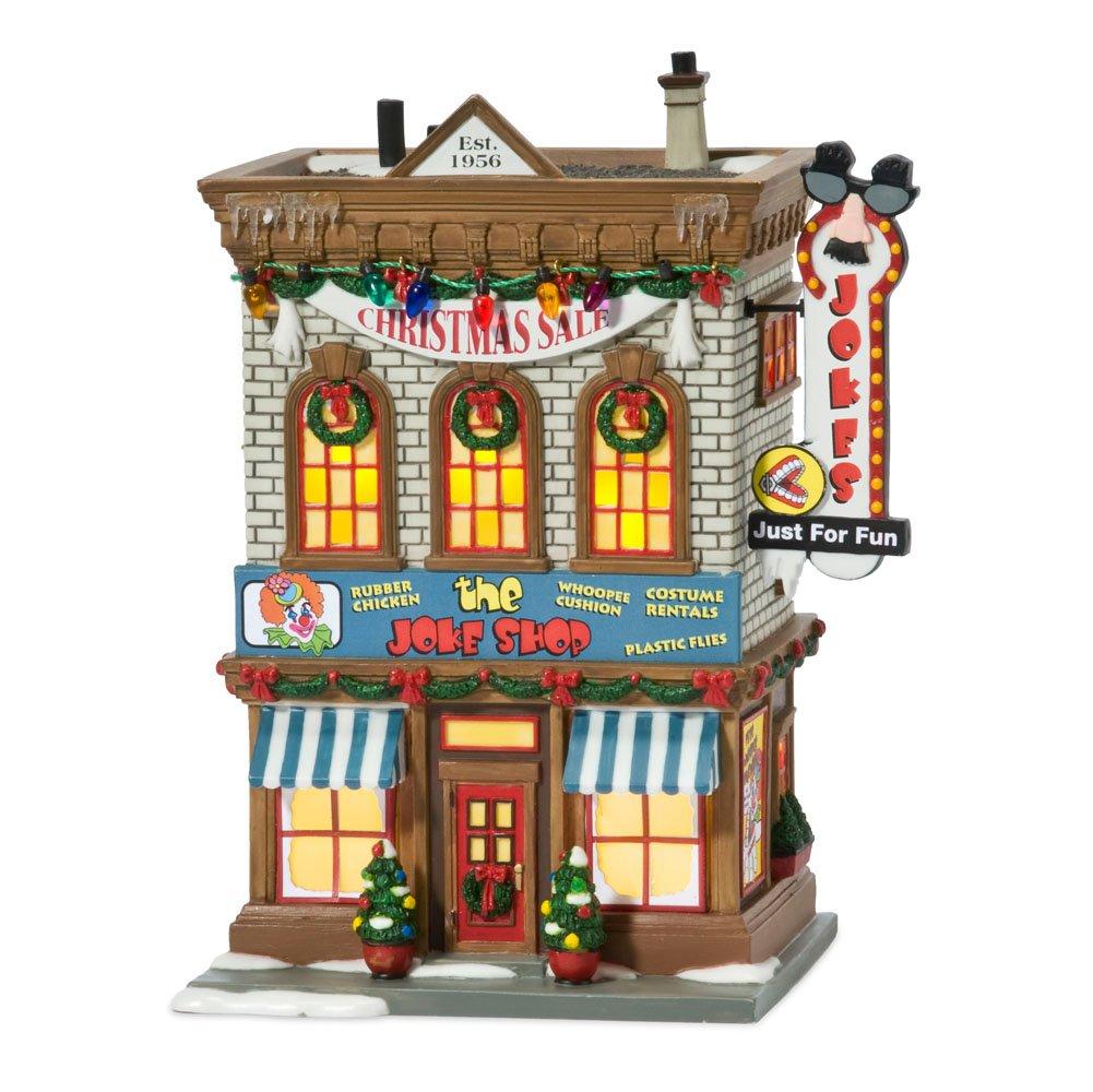 Department 56 A Christmas Story Village Lit Miniature Building Joke Shop
