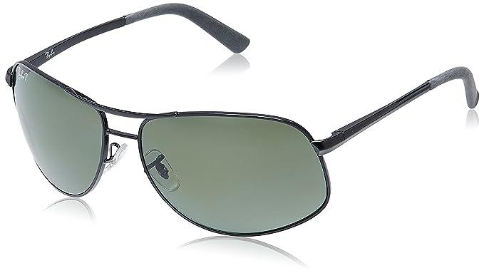 5d87584da40 Ray-Ban Rectangular Sunglasses (Black) (RB3387