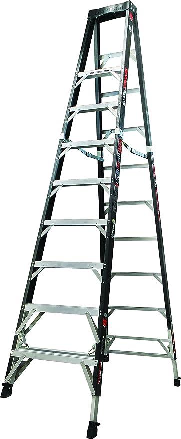 Poco gigante escalera sistemas 15770 – 804 seguro marco con niveladores de trinquete, 10