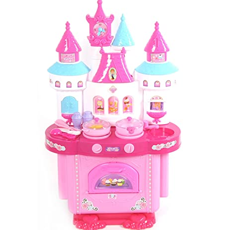 Amazon Com Mini Kitchen Set Cookware Castle Kitchen Playset Role