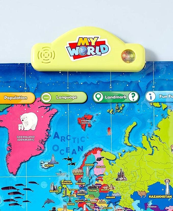 My USA My World Mapa Interactivo del Mundo para niños – más de 500 ...
