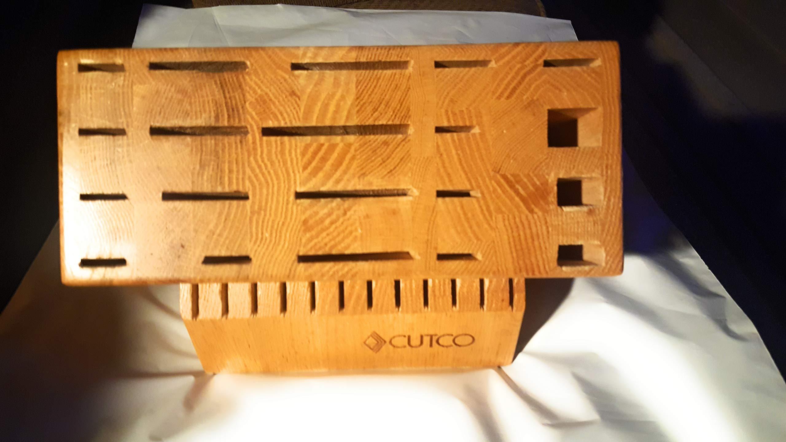 Cutco #1747 32-Slot Ultimate Set Block (Honey Finish)