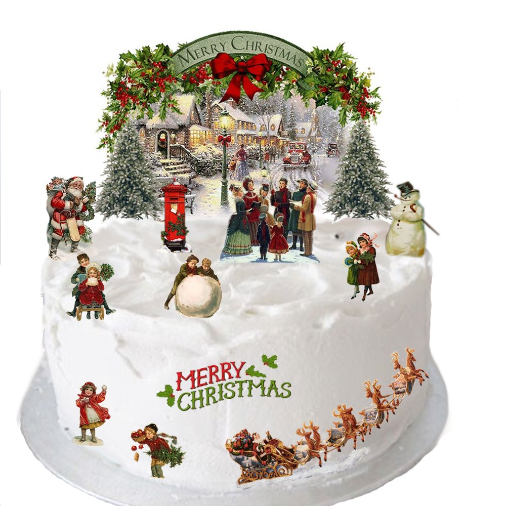 Traditional Vintage Victorian Christmas Stand Up Scene Made From ...