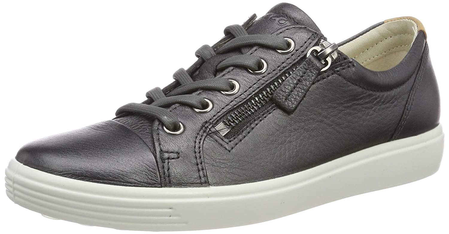 BLACK DARK SHADOW METALLIC ECCO Women's Women's Soft Sneaker
