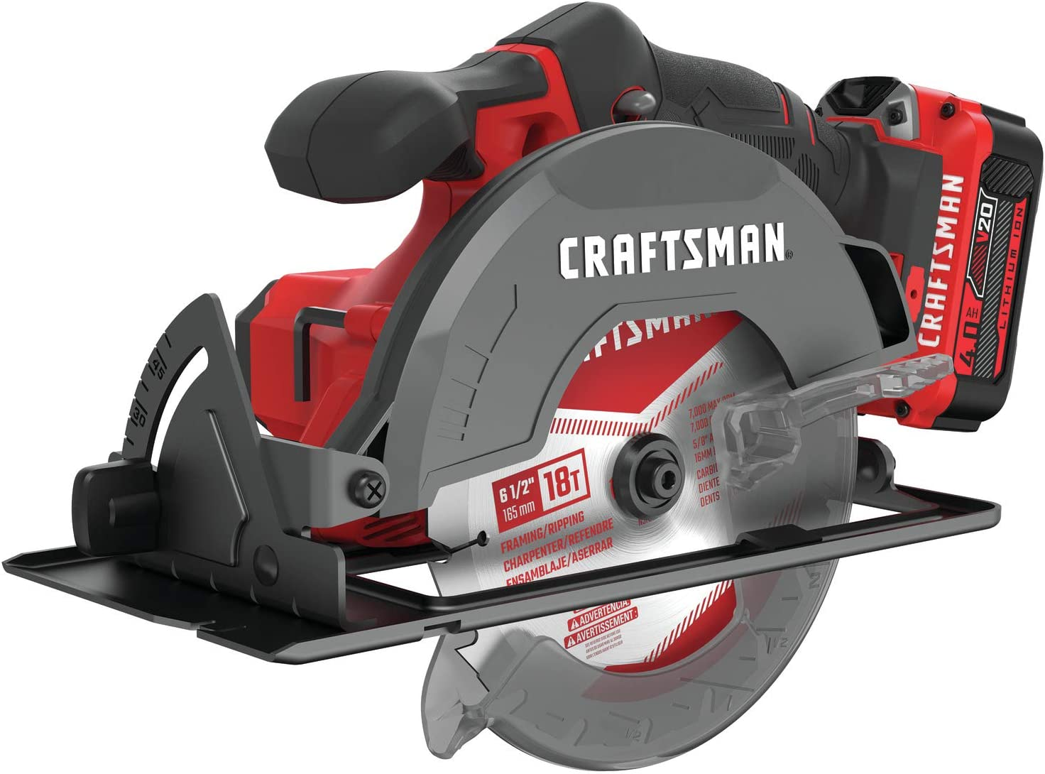 CRAFTSMAN V20 6-1/2-Inch Cordless Circular Saw Kit