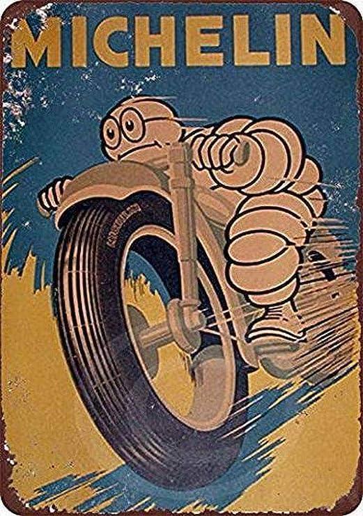 WallAdorn Neumáticos Michelin Cartel de Hierro Pintura ...