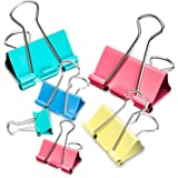 Binder Clips, 100PCS Binder Clips Assorted Sizes [2020 Upgrade] Large, Medium, Mini Binder Clips Combination, can use…