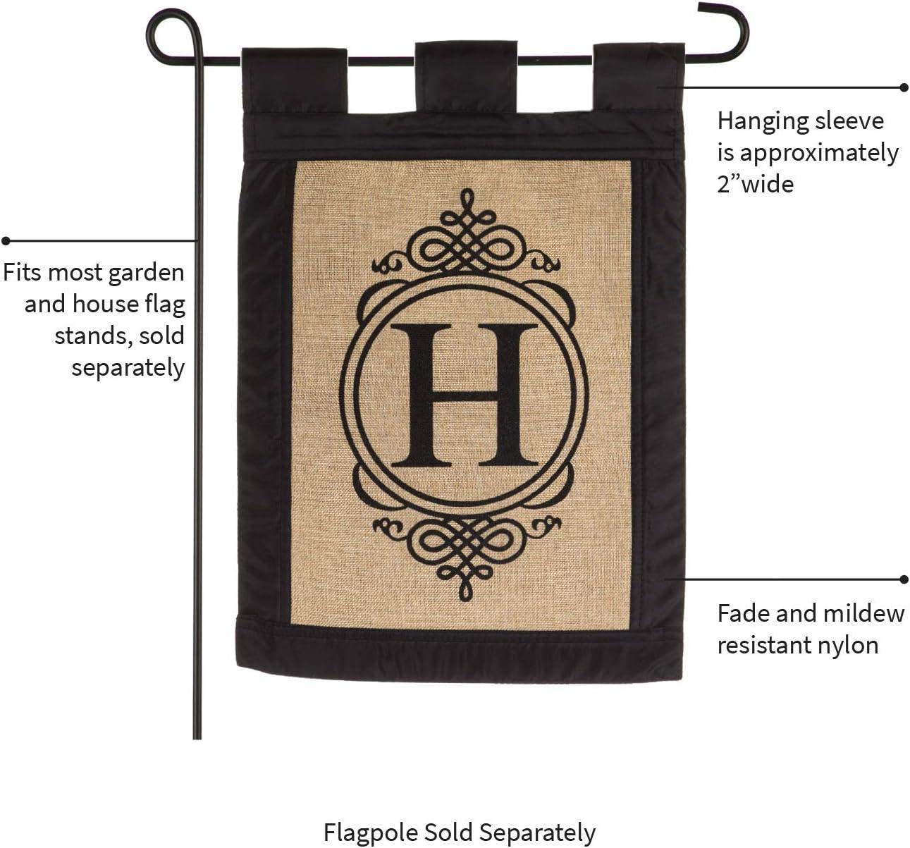 Vinyl Record Flag Garland Letter H