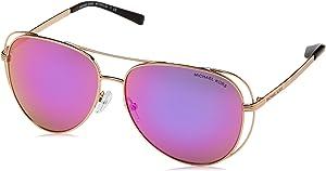 Michael Kors MK1024 11944X Rose Gold Lai Pilot Sunglasses Lens Category 3 Lens