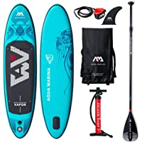 "2019 Upgraded 9'10"" Vapor iSUP Inflatable Paddleboard with Leash Pump Paddle and Bag - Adults and Youth Sup Deck Stand Up Paddle Boards Blow Up - 4.72"" Thick / 30"" Wide"