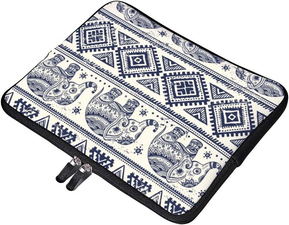 "Ethnic Tribal Aztec Elephant Pattern Neoprene 12 Inch Laptop Sleeve Case Protective Cover Carrying Bag for 9.7"" 10.5"" iPad Pro Air/ 10"" Microsoft Surface Go/ 10.5"" Samsung Galaxy Tab"