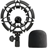 YOUSHARES Blue Yeti Shock Mount with Foam Windscreen, Alloy Shockmount Reduces Vibration With Blue Yeti Pop Filter, Compatibl
