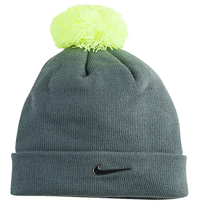 a1fa3e61789e9 Image Unavailable. Image not available for. Color  Nike Metal Swoosh Logo  Knit Beanie Hat