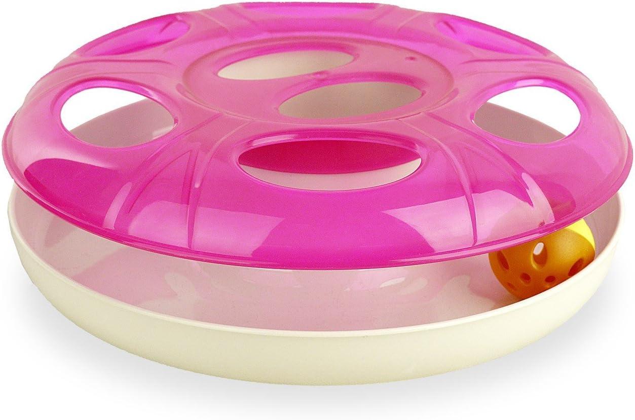 MEDIA WAVE store Gioco per Gatti interattivo in plastica 10605 con Pallina UFO /ø 25 cm Circa Verde