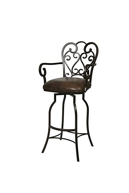 Amazoncom Plutus Brands Magnolia Swivel Barstool With Arms 30