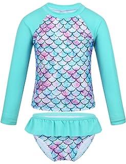 iixpin Infant Baby Boys Girls One Piece Swimsuit Short Sleeves Zippered Striped Rash Guard Bathing Suit Swimwear