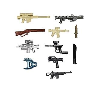Custom für LEGO® Figuren BrickArms Value #9 Militär Waffen Set Bau- & Konstruktionsspielzeug-Sets