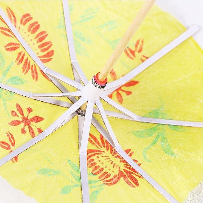 144 papel cóctel Sombrillas Bebidas Sombrillas
