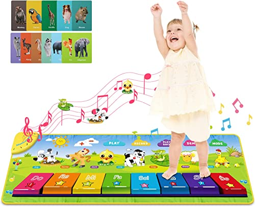 RenFox 儿童音乐钢琴毯,含25首旋律和5种演奏模式