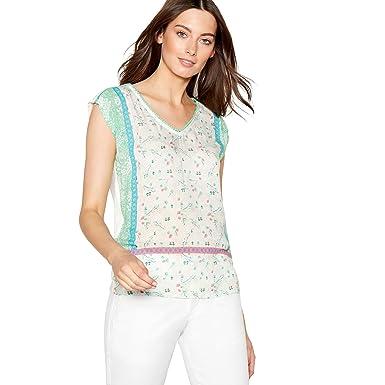 5783869b4897d2 Mantaray Womens Pale Green Floral Print Sleeveless Top 10: Mantaray:  Amazon.co.uk: Clothing
