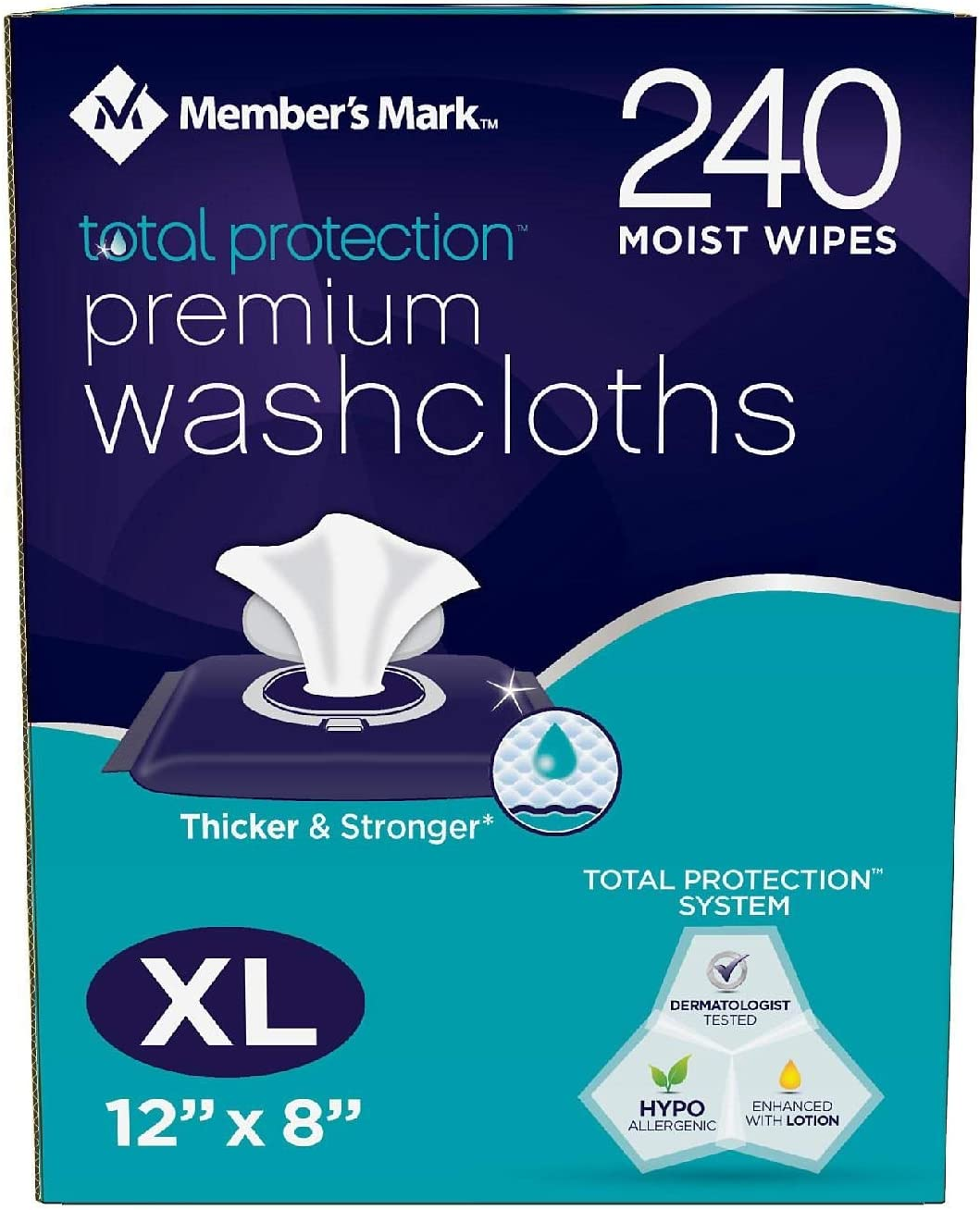 Member's Mark Adult Washcloths (240 ct.) (pack of 2)