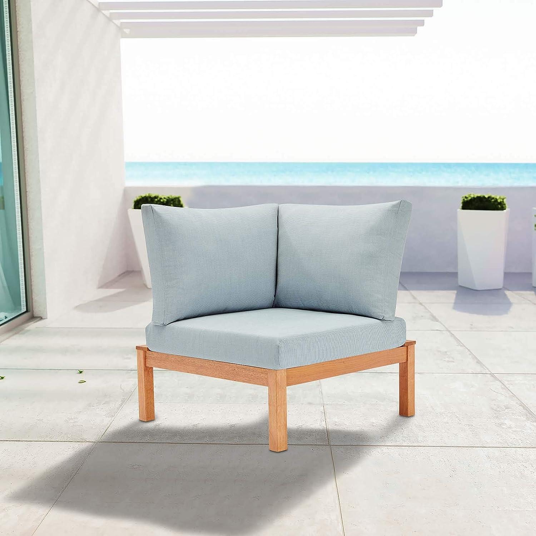 Modway Eei 3694 Nat Lbu Freeport Corner Chair Natural Light Blue Garden Outdoor