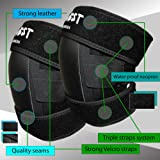 InGwest Home & Garden - Professional Knee Pads for work - gardening, landscaping, tiling, flooring, chores with 4 layers material. Moisture proof Knee Pads. Strong Triple Straps with Velcros