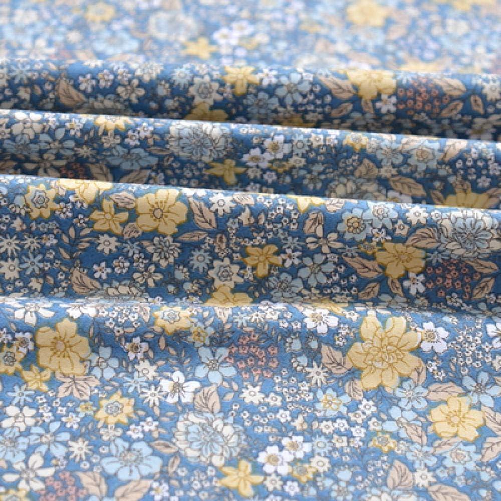 SLMJ 110 a 160 cm x 50 cm de Sarga de algod/ón Puro pa/ño Floral Fresco Hacer Ropa de Cama Pijamas Ropa Cortina Tela 160 g//metro-33