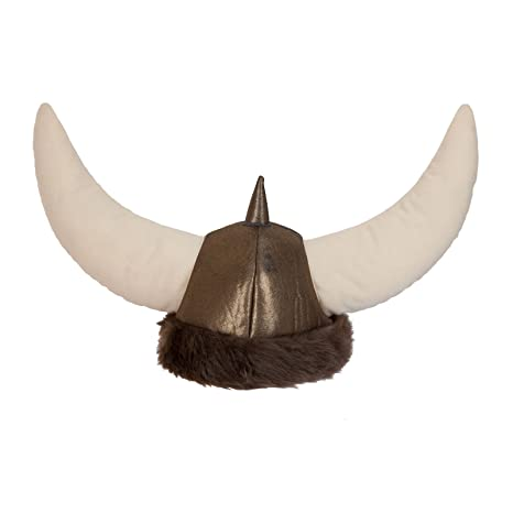 cc0e667f484 Wicked Costumes Adult Deluxe Soft Viking Helmet Hat Fancy Dress Party  Accessory Horns Faux Fur  Amazon.co.uk  Toys   Games