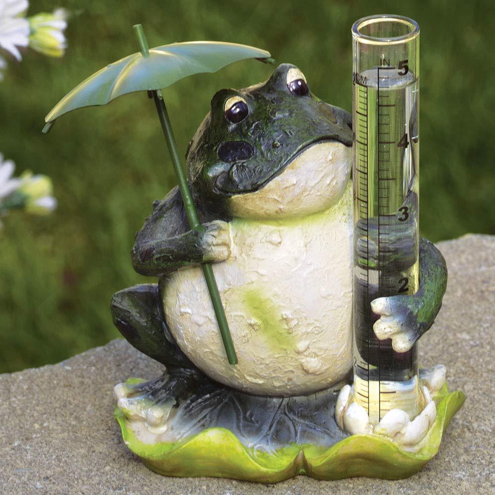 Bits and Pieces Grenouille Pluviom/ètre pour votre jardin statue en polyr/ésine r/ésistant aux intemp/éries pelouse ou terrasse