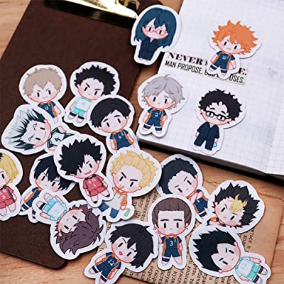 YJacuing Anime Haikyuu!! Cute Vinyl Decals Stickers (23PCS): Toys & Games