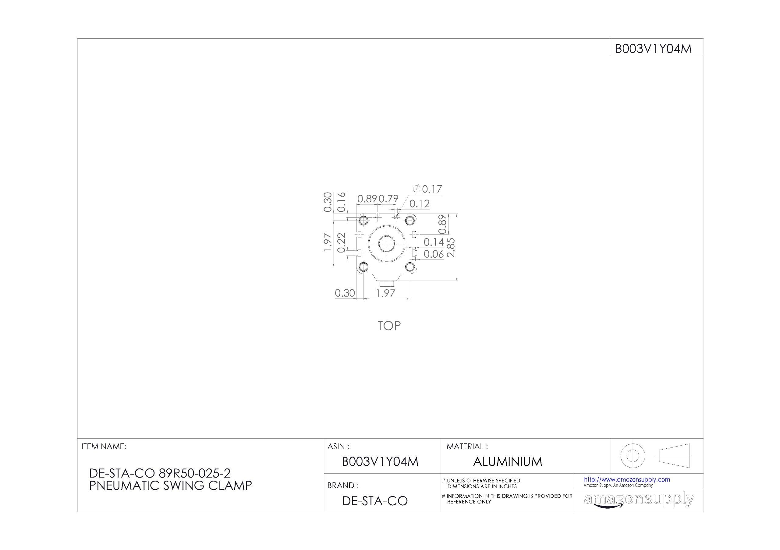 DE-STA-CO 89R50-025-2 Pneumatic Swing Clamp by De-Sta-Co (Image #4)