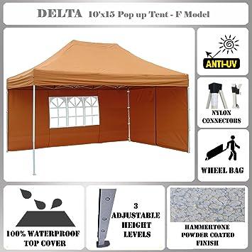 10u0027x15u0027 Pop up Canopy Wedding Party Tent Gazebo EZ Burnt Orange - F  sc 1 st  Amazon.com & Amazon.com : 10u0027x15u0027 Pop up Canopy Wedding Party Tent Gazebo EZ ...