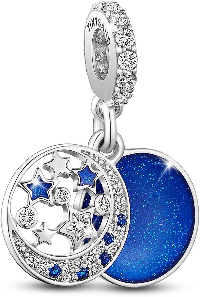 AAA Femmes Pendentif Bead 925 Sterling Silver Charm Zircon Cubique LOVE Pour Bracelet Collier
