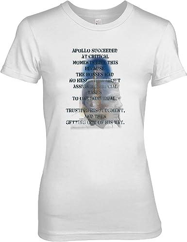 Gene Kranz Apollo 11 & 13 Flight Director & NASA Legend Tribute - Camiseta para mujer: Amazon.es: Ropa y accesorios