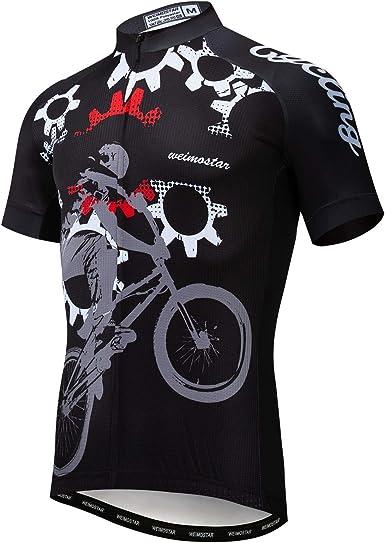 Mens Cycling Jersey Jacket MTB Bike Motocross Tight Long Bicycle Shirt Team Top