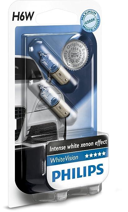 4 opinioni per Philips WhiteVision Effetto Xenon H6W lampada auto 12036WHVB2, blister doppio