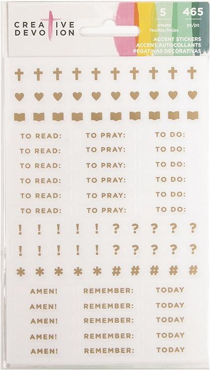 American Crafts 100 Sheet 5.5 x 4.6 Inch Scripture Pad Creative Devotion