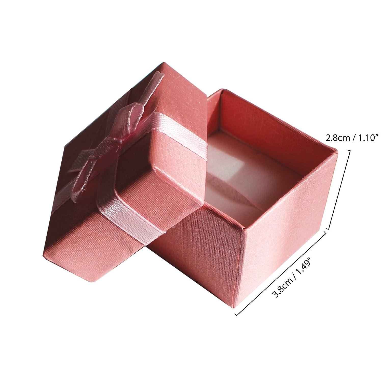 f32a02dbc7 Pack de 24 Cajas para Joyas Anillo Exhibir Regalos con Inserto de ...